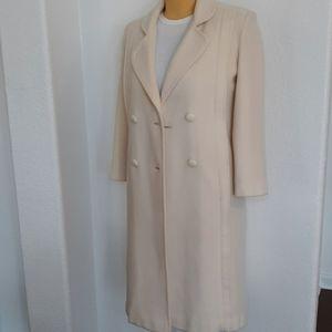 Vintage wool blend long pea coat